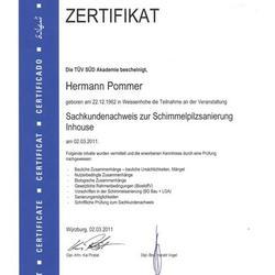 Unsere Zertifikate für Schimmelsanierung
